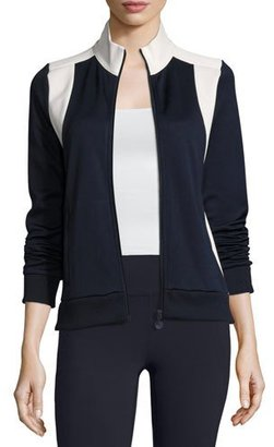 Tory Sport Colorblock Track Jacket, Blue/White $165 thestylecure.com
