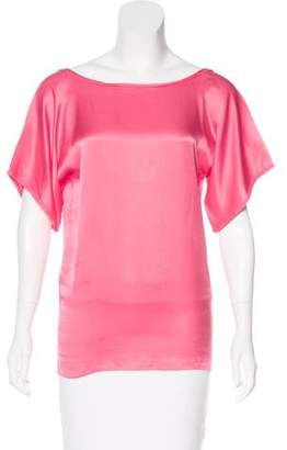 Lanvin Silk Short Sleeve Blouse