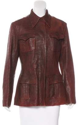 Lanvin Embossed Leather Jacket