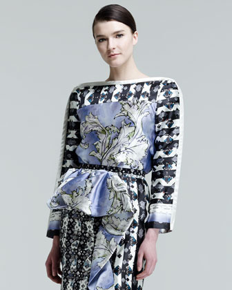 Peter Pilotto Katia Printed Faux-Wrap Blouse