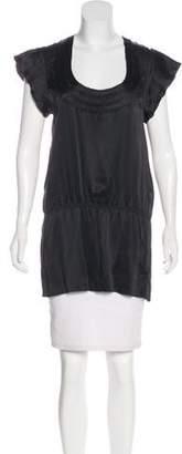Thakoon Silk Short Sleeve Top