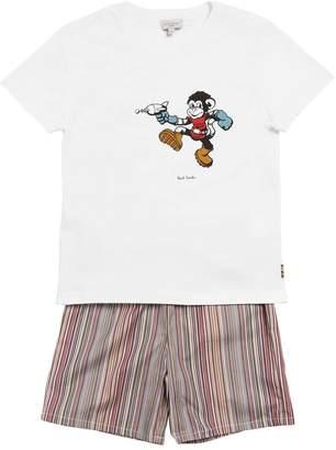Paul Smith Print Jersey T-shirt & Stripes Pants