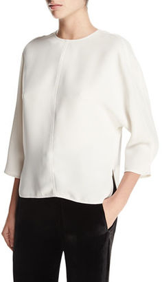 Vince Open-Back Crewneck Top $265 thestylecure.com