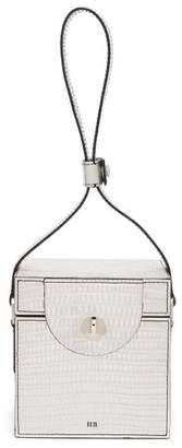 Hillier Bartley - Cube Lizard Effect Clutch - Womens - Silver