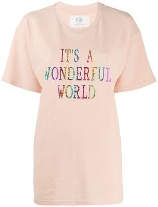 Alberta Ferretti It's A Wonderful World oversized T-shirt