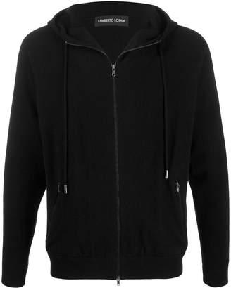 Lamberto Losani slim-fit zip-up hoodie