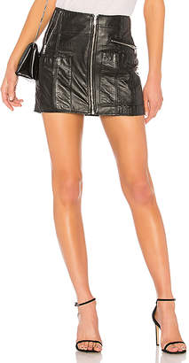 RE/DONE Originals Reconstructed Leather Mini Skirt