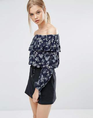 Abercrombie & Fitch Off The Shoulder Boho Top