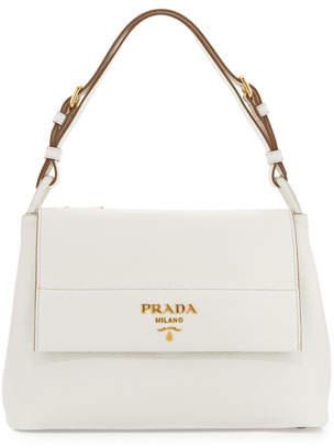 Prada Vitello Daino Shoulder Bag, White (Bianco) $2,090 thestylecure.com