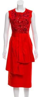 Dries Van Noten Embellished Midi Dress
