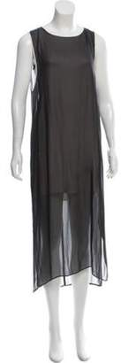 Helmut Lang Sleeveless Layered Dress grey Sleeveless Layered Dress