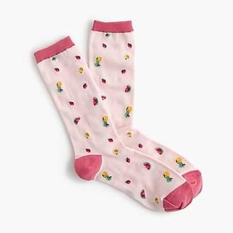 J.Crew Trouser socks in summer fruit