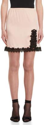 Giamba Lace Trim Mini Slip Skirt