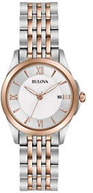 Bulova Ladies' Classic Two-tone Bracelet Watch $299 thestylecure.com