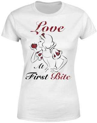 Disney Princess Snow White Love At First Bite Women's T-Shirt - White