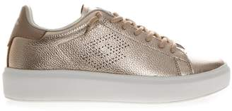 Lotto Leggenda Impression Metal Bronze Laminate Leather Sneaker
