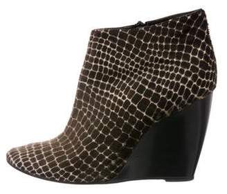 Pierre Hardy Ponyhair Ankle Boots