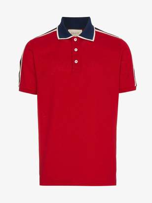Gucci Red Stripe polo shirt