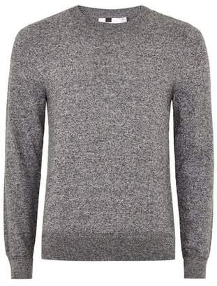 Topman Mens Grey Gray Salt And Pepper Twist Sweater