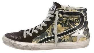 Golden Goose Floral High-Top Sneakers