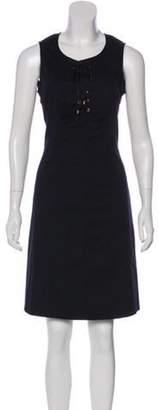 Derek Lam Sleeveless Knee-Length Dress Navy Sleeveless Knee-Length Dress