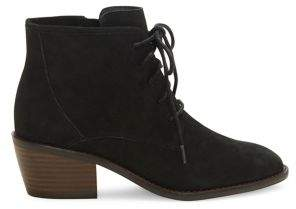 Lucky Brand Idril Leather Lace-Up Booties