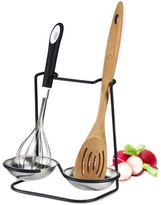 Prodyne METALLA Stainless Steel Double Spoon Rest