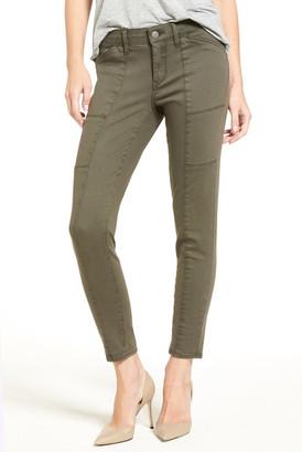 Treasure & Bond Seamed Ankle Skinny Jeans (Olive Tarmac)