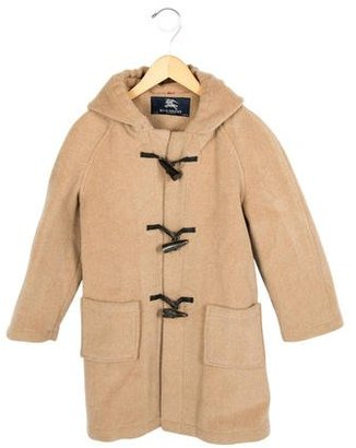 Burberry Boys' Hooded Wool Coat $220 thestylecure.com