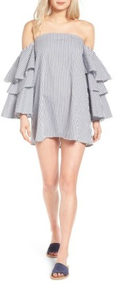 Women's Faithfull The Brand Phi Phi Ruffle Off The Shoulder Dress $169 thestylecure.com