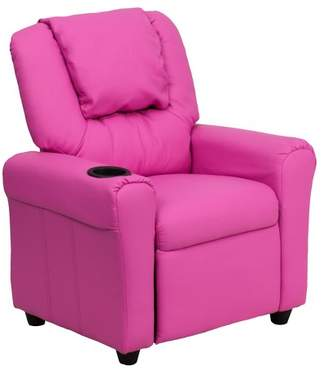 Riverstone Furniture Contemporary Kids Recliner with Cup Holder and Headrest - Riverstone