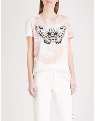 Zadig & Voltaire Butterfly-motif cotton-jersey T-shirt