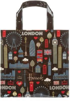 Harrods Small Glitter London Shopper Bag