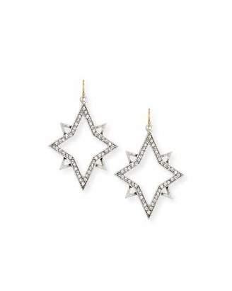 Lulu Frost Nova Crystal Star Drop Earrings $195 thestylecure.com