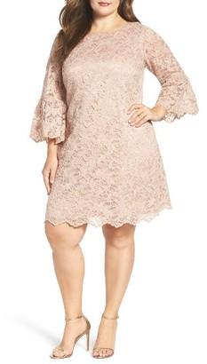 Plus Size Women's Eliza J Lace Shift Dress $148 thestylecure.com