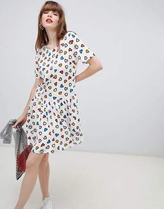 Love Moschino allover heart skater dress