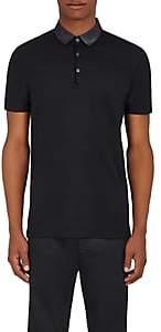 Lanvin Men's Cotton Piqué Polo Shirt - Black