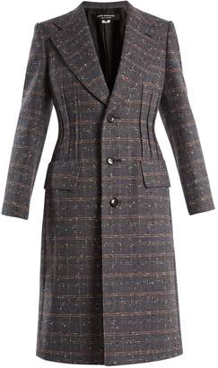 Junya Watanabe Checked single-breasted wool-blend coat