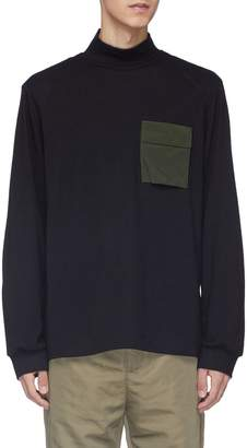 Oamc 'Ghost' chest pocket virgin wool mock neck sweater