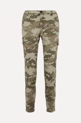 ATM Anthony Thomas Melillo Camouflage-print Cotton-blend Slim-leg Pants - Green