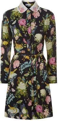 Vilshenko Miranda Floral Mini Dress