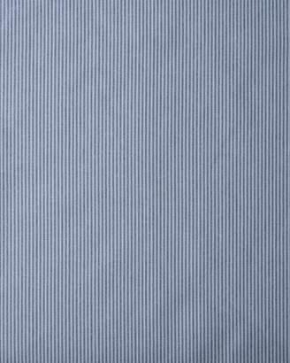 Serena & Lily Pinstripe Cotton Fabric - Dark Chambray