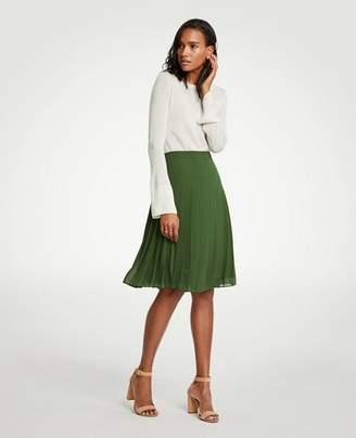 Ann Taylor Pleated Chiffon Skirt