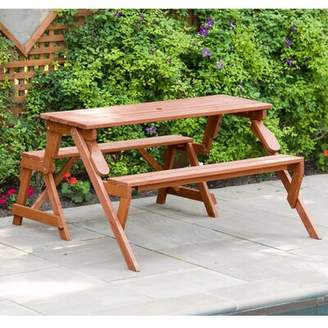Freeport Park Andres Solid Wood Picnic Table Freeport Park