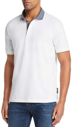 Emporio Armani Striped Collar Regular Fit Polo