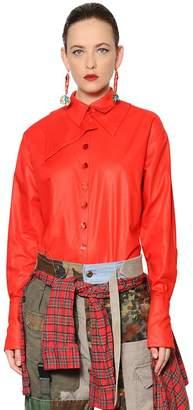Cotton Chintz Shirt W/ Leopard Details