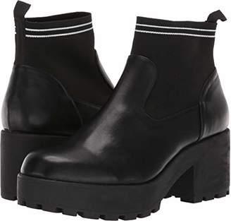 Rocket Dog Women's CROSBIE Butter PU/Knit Fabric Ankle Boot