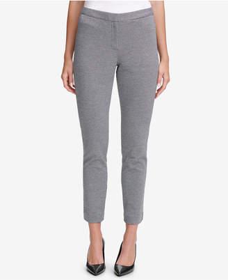 Calvin Klein Mini-Houndstooth-Print Ankle Pants