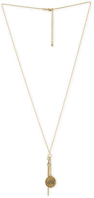 "Rachel Roy Gold-Tone Pave Love Disc & Spike 25"" Pendant Necklace"