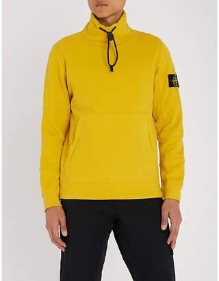 Stone Island Funnel-neck cotton-jersey sweatshirt